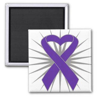 Epilepsy Awareness Heart Ribbon Refrigerator Magnets
