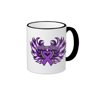 Epilepsy Awareness Heart Wings.png Coffee Mugs