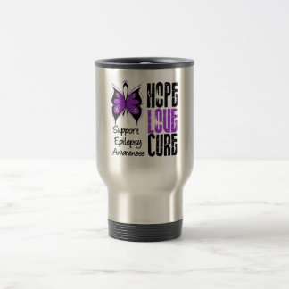 Epilepsy Awareness Hope Love Cure 15 Oz Stainless Steel Travel Mug