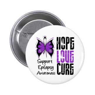 Epilepsy Awareness Hope Love Cure Button