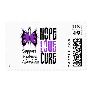 Epilepsy Awareness Hope Love Cure Postage Stamp