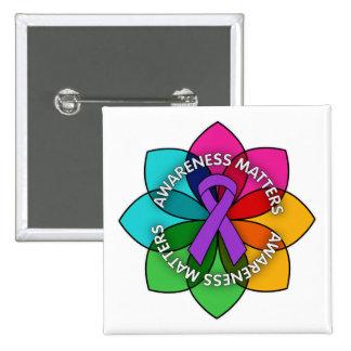 Epilepsy Awareness Matters Petals Buttons
