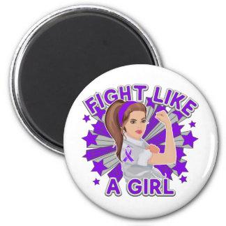 Epilepsy Awareness Modern Rosie Fight Fridge Magnets