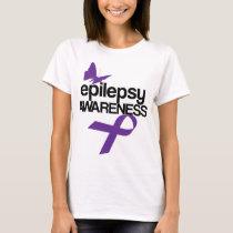 Epilepsy Awareness Month Tshirt Purple Ribbon Men