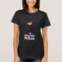 Epilepsy Awareness Ninja Ribbon T-Shirt