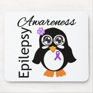 Epilepsy Awareness Penguin Mousepad