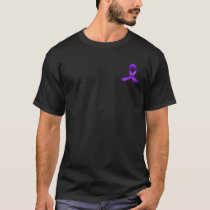 Epilepsy Awareness Purple Ribbon Pocket T-Shirt