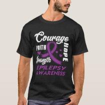 Epilepsy Awareness  Purple Ribbon Support Gifts T-Shirt