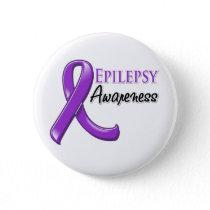 Epilepsy Awareness Ribbon Button