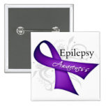 Epilepsy Awareness Ribbon Pins