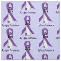 Epilepsy Awareness Ribbon with Lighthouse of Hope Fabric