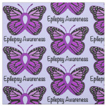 Epilepsy Awareness with Butterfly Ribbon Fabric
