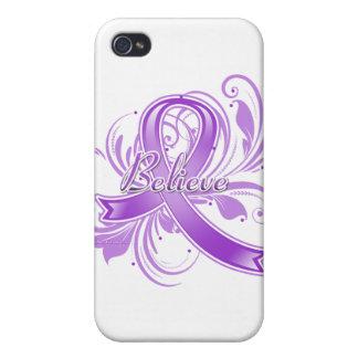 Epilepsy Believe Flourish Ribbon iPhone 4/4S Cases