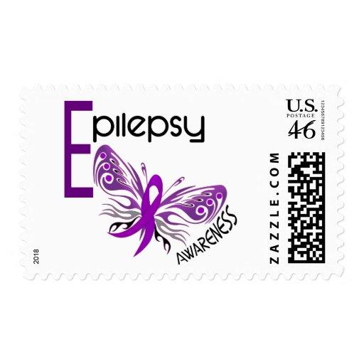 Epilepsy BUTTERFLY 3 Postage Stamp