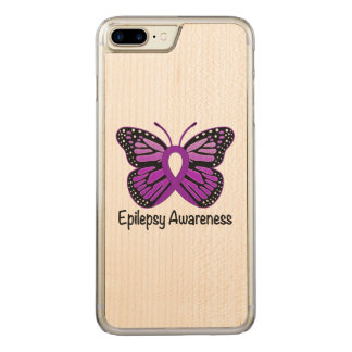Epilepsy Butterfly Awareness Ribbon Carved iPhone 8 Plus/7 Plus Case