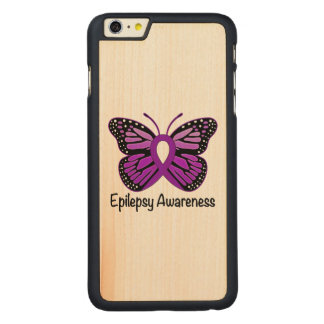 Epilepsy Butterfly Awareness Ribbon Carved® Maple iPhone 6 Plus Slim Case