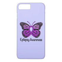 Epilepsy Butterfly Awareness Ribbon iPhone 8 Plus/7 Plus Case