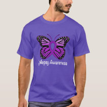 Epilepsy Butterfly Awareness Ribbon T-Shirt