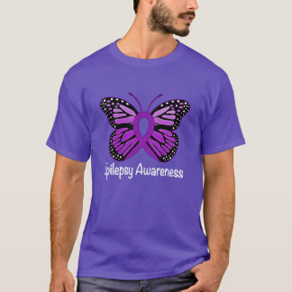 Epilepsy Butterfly Awareness Ribbon T-Shirt
