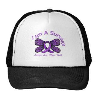 Epilepsy Butterfly I Am A Survivor Hats
