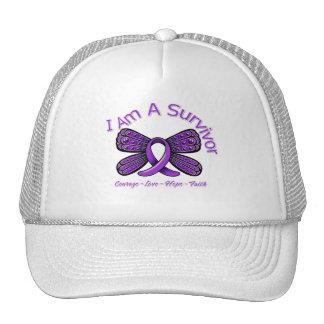 Epilepsy Butterfly I Am A Survivor Mesh Hats
