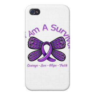 Epilepsy Butterfly I Am A Survivor Cases For iPhone 4