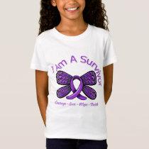 Epilepsy Butterfly I Am A Survivor T-Shirt