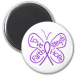 Epilepsy Butterfly Inspiring Words 2 Inch Round Magnet