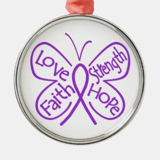 Epilepsy Butterfly Inspiring Words Ornament