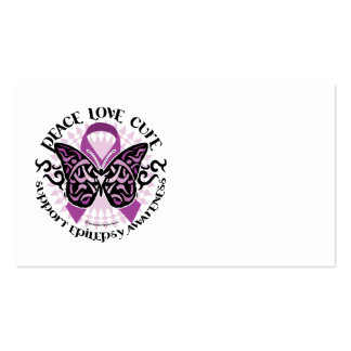 Epilepsy Butterfly Tribal Business Card Templates