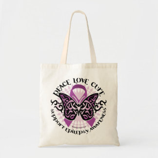 Epilepsy Butterfly Tribal Tote Bag