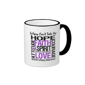 Epilepsy Can t Take My Hope Collage Mug