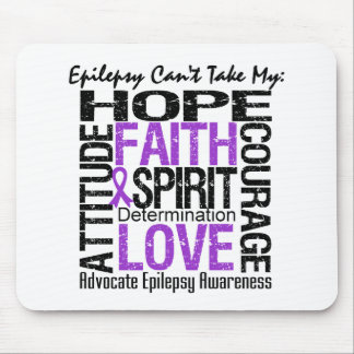Epilepsy Can't Take My Hope Collage Mousepad