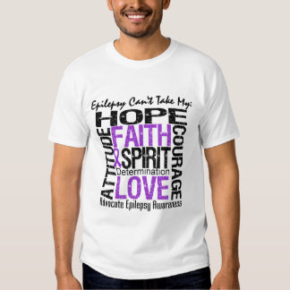 Epilepsy Can't Take My Hope Collage Shirts