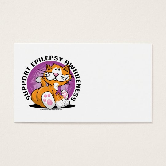 Epilepsy Cat Business Card
