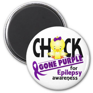 Epilepsy Chick Gone Purple 2 Fridge Magnet