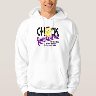 Epilepsy Chick Interrupted 2 Hoodie