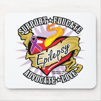 Epilepsy Classic Heart Mouse Pad
