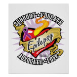 Epilepsy Classic Heart Posters