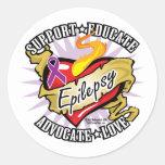 Epilepsy Classic Heart Stickers