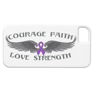Epilepsy Courage Faith Wings iPhone 5 Cover