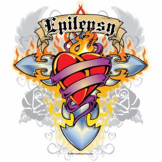Epilepsy Cross & Heart Cutout