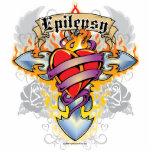 Epilepsy Cross & Heart Standing Photo Sculpture