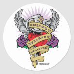 Epilepsy Dagger and Heart Tattoo Stickers