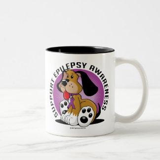 Epilepsy Dog Two-Tone Coffee Mug