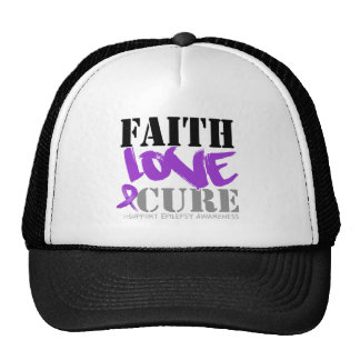 Epilepsy Faith Love Cure Trucker Hat