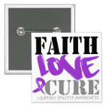Epilepsy Faith Love Cure Pinback Buttons