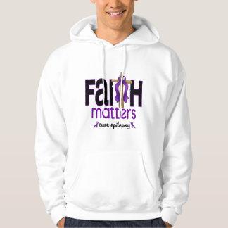 Epilepsy Faith Matters Cross 1 Hooded Pullover