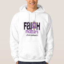Epilepsy Faith Matters Cross 1 Hoodie