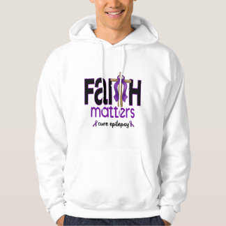 Epilepsy Faith Matters Cross 1 Hoodie